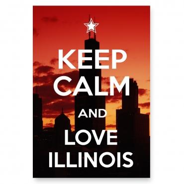 Keep Calm and Love Illinois