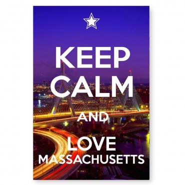 Keep Calm and Love Massachusetts