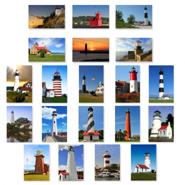 Lighthouses Set of 20