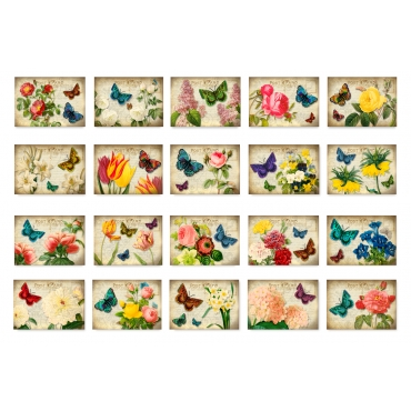 Victorian Flowers Set of 20