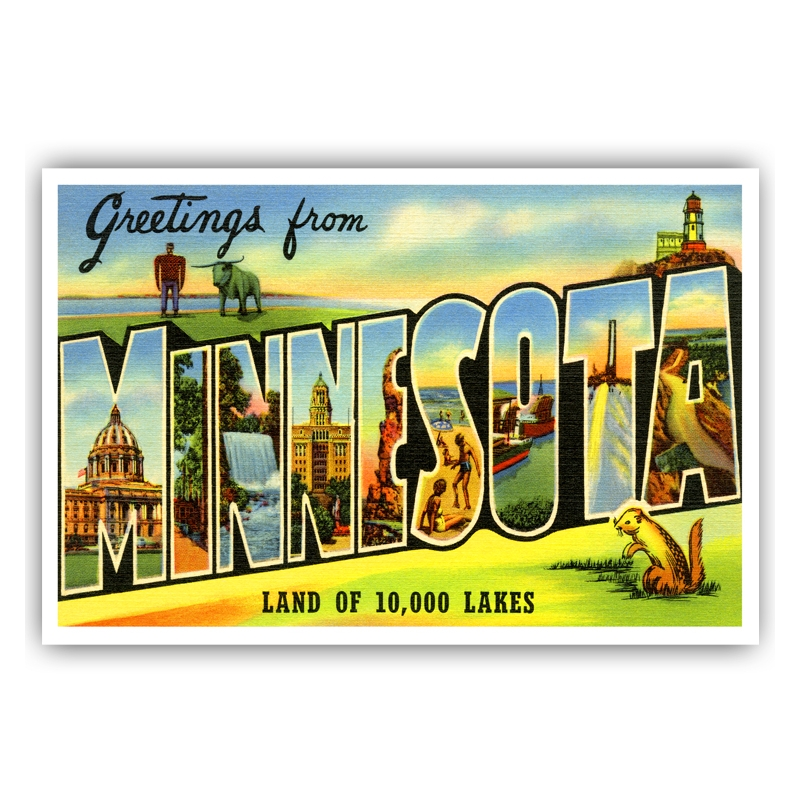 Greetings from minnesota postcard greetings from michigan m4hsunfo