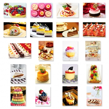 Sweets & Cakes Set of 20