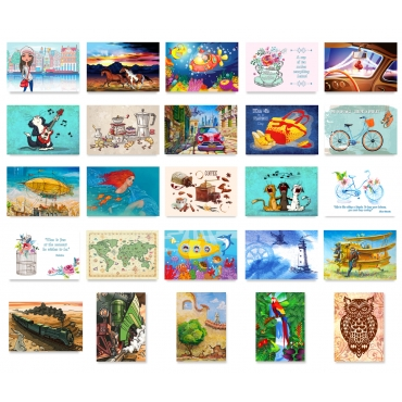 Illustrations Set of 50