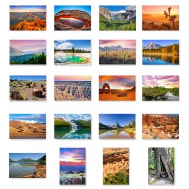 US National Parks set of 20