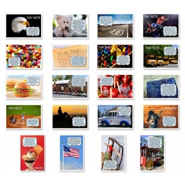 Americana Fun Facts Set of 20