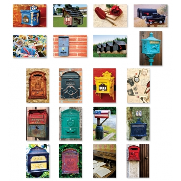 Mailboxes and Postal Set of 20