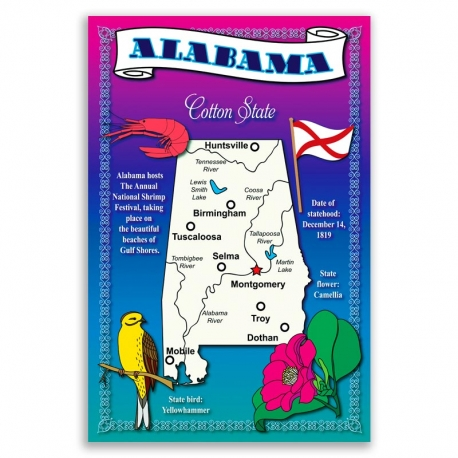 Aabama map