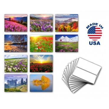 Landscapes & Flowers Note Cards Set of 10