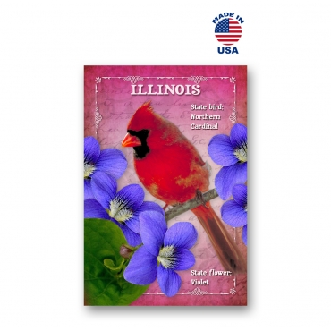 Illinois Bird & Flower Set of 20