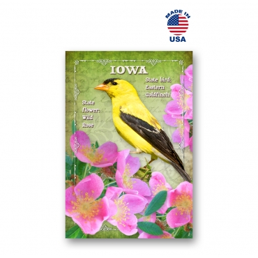 Iowa Bird & Flower Set of 20