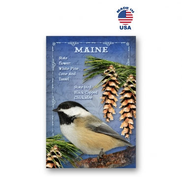 Maine Bird & Flower Set of 20