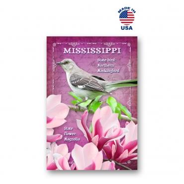 Mississippi Bird & Flower Set of 20
