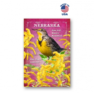 Nebraska Bird & Flower Set of 20