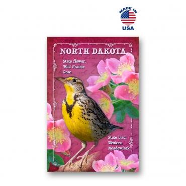 North Dakota Bird & Flower Set of 20
