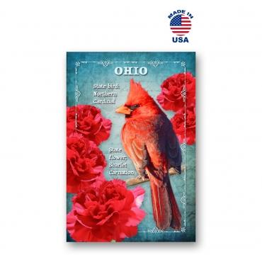 Ohio Bird & Flower Set of 20