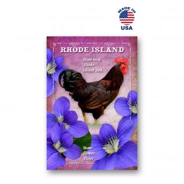 Rhode Island Bird & Flower Set of 20