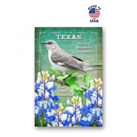 South Dakota Bird & Flower Set of 20