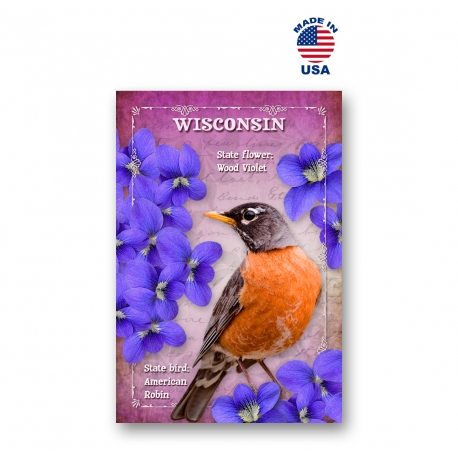 Washington Bird & Flower Set of 20