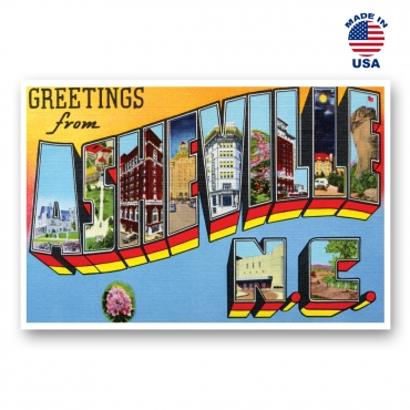 Greetings from Asheville, North Carolina Set of 20