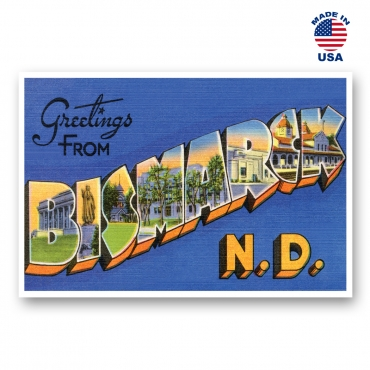 Greetings from Bismarck, North Dakota Set of 20