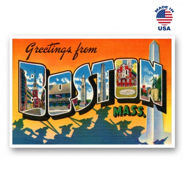Greetings from Boston, Massachusetts Set of 20