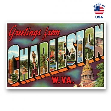 Greetings from Charleston, West Virginia Set of 20