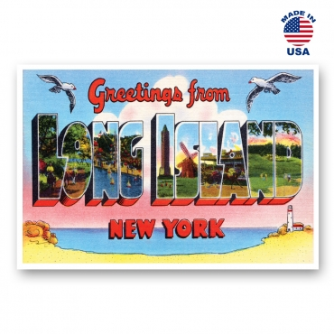 Greetings from Long Island, New York Set of 20