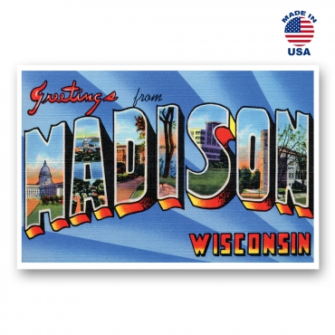 Greetings from Madison, Wisconsin Set of 20