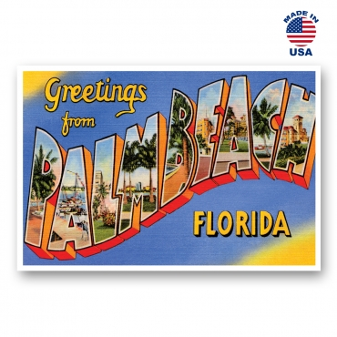 Greetings from Palm Beach, Florida Set of 20
