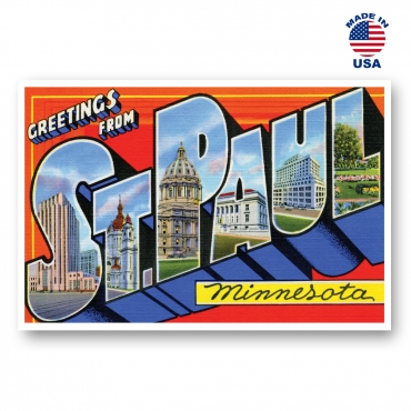 Greetings from St. Paul, Minnesota Set of 20
