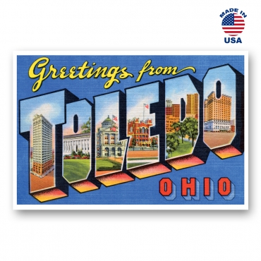 Greetings from Toledo, Ohio Set of 20