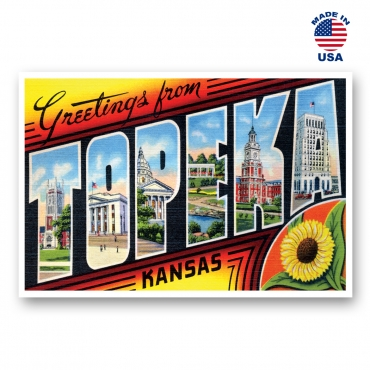 Greetings from Topeka, Kansas Set of 20
