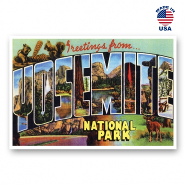 Greetings from Yosemite National Park, California Set of 20