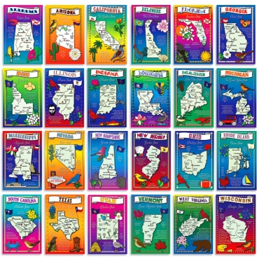 US Maps set of 50