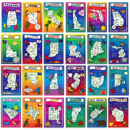 US Maps set of 50