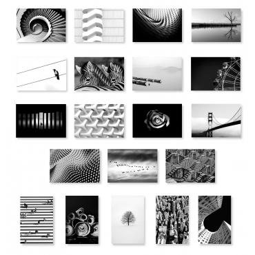 Black & White Set of 20
