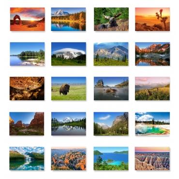 US National Parks Set of 62